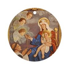 St Dominic window Ornament (Round)