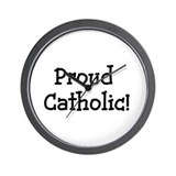 Proud Catholic Wall Clock