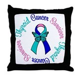 ThyroidCancerSurvivorButterfly Throw Pillow