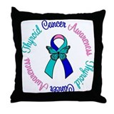 Thyroid Cancer Butterfly Throw Pillow