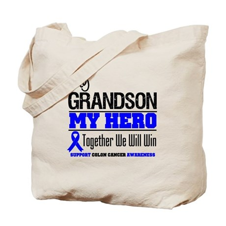 ColonCancerHero Grandson Tote Bag
