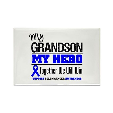 ColonCancerHero Grandson Rectangle Magnet