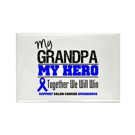 ColonCancerHero Grandpa Rectangle Magnet