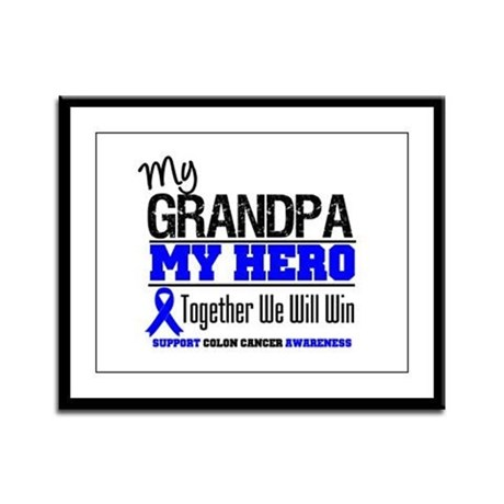 ColonCancerHero Grandpa Framed Panel Print
