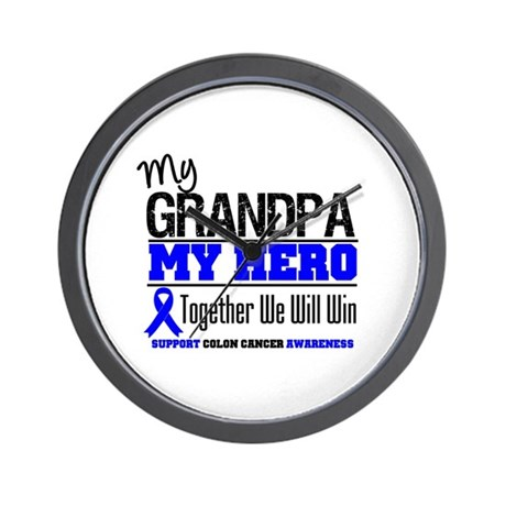 ColonCancerHero Grandpa Wall Clock
