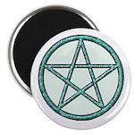 "Green sparkle Pentagram 2.25"" Magnet (100 pac"
