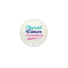 Thyroid Cancer Survivor Mini Button (100 pack)