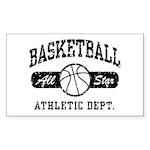 Basketball Rectangle Sticker 10 pk)