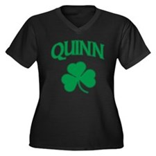 Quinn Irish Women's Plus Size V-Neck Dark T-Shirt