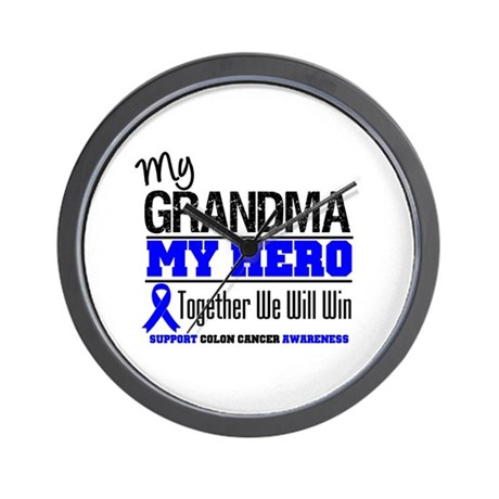 ColonCancerHero Grandma Wall Clock
