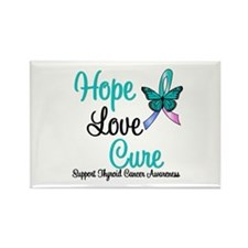 ThyroidCancerHopeLoveCure Rectangle Magnet (10 pac