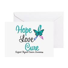 ThyroidCancerHopeLoveCure Greeting Card