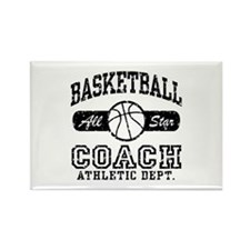 Basketball Coach Rectangle Magnet