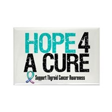 Thyroid Cancer Hope Cure Rectangle Magnet (10 pack