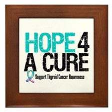 Thyroid Cancer Hope Cure Framed Tile