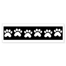 Paw Prints Bumper Bumper Sticker