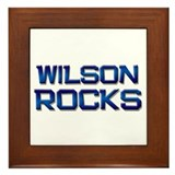 wilson rocks Framed Tile