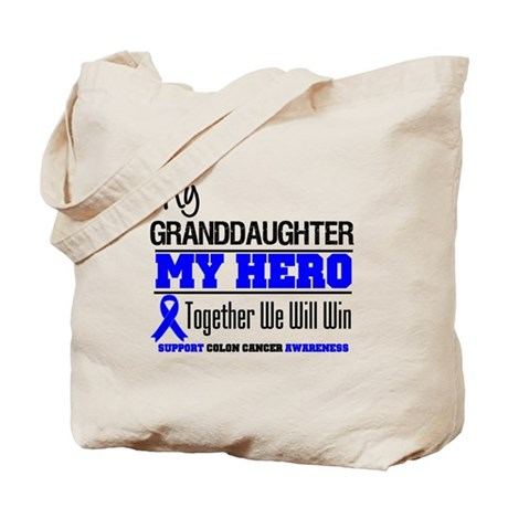 ColonCancer Granddaughter Tote Bag