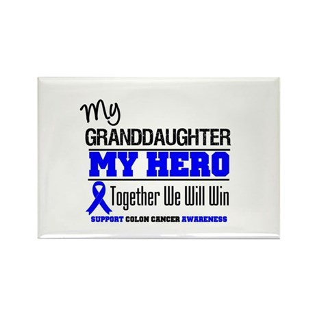 ColonCancer Granddaughter Rectangle Magnet
