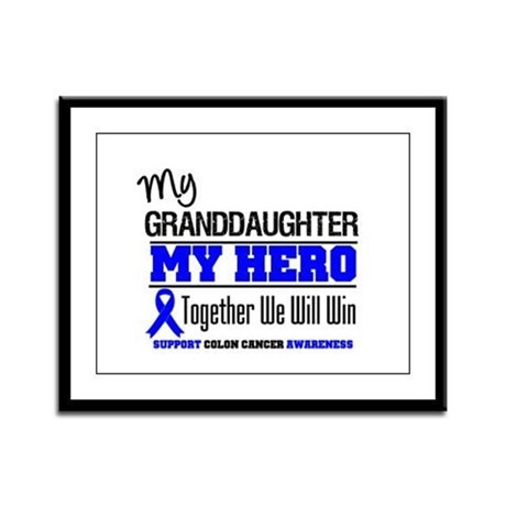 ColonCancer Granddaughter Framed Panel Print
