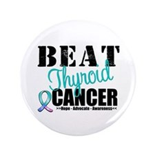 "Beat Thyroid Cancer 3.5"" Button (100 pack)"
