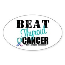Beat Thyroid Cancer Oval Decal