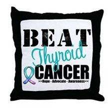 Beat Thyroid Cancer Throw Pillow