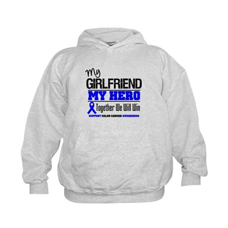 ColonCancer Girlfriend Kids Hoodie