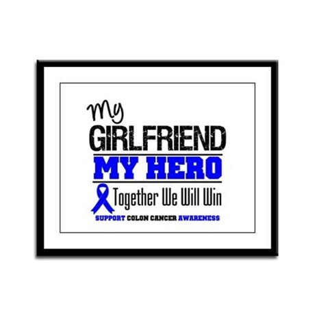 ColonCancer Girlfriend Framed Panel Print