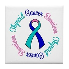 Thyroid Cancer Tile Coaster