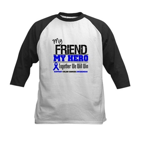 ColonCancerHero Friend Kids Baseball Jersey