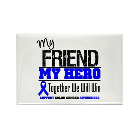 ColonCancerHero Friend Rectangle Magnet