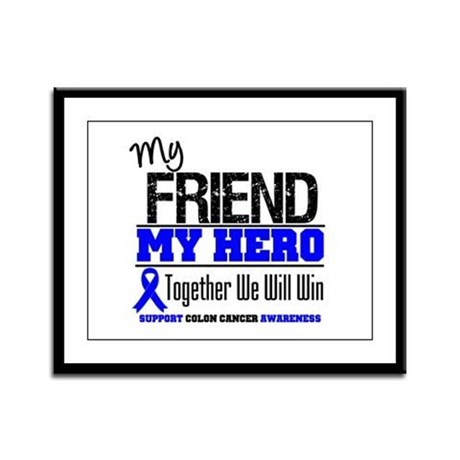 ColonCancerHero Friend Framed Panel Print