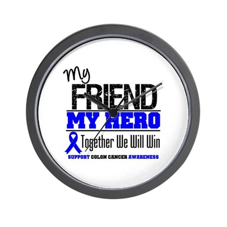 ColonCancerHero Friend Wall Clock