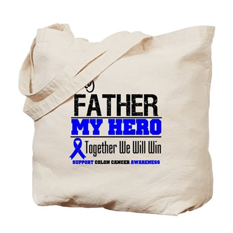 ColonCancerHero Father Tote Bag
