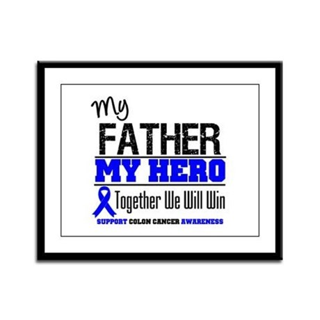 ColonCancerHero Father Framed Panel Print