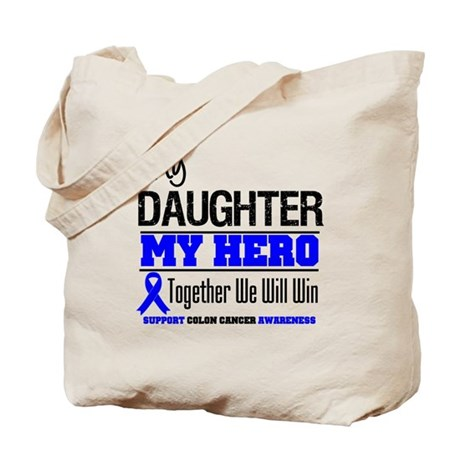 ColonCancerHero Daughter Tote Bag