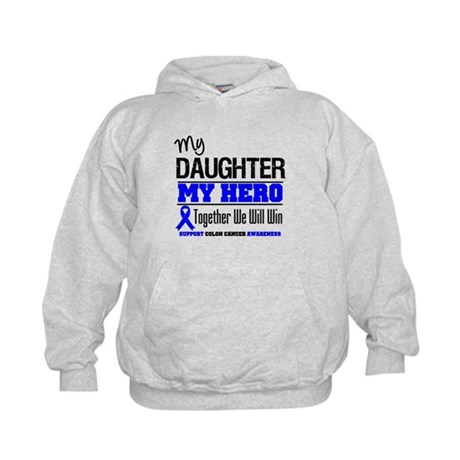 ColonCancerHero Daughter Kids Hoodie