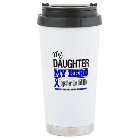ColonCancerHero Daughter Ceramic Travel Mug