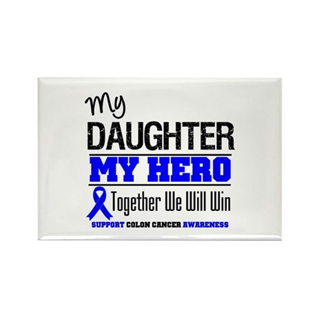 ColonCancerHero Daughter Rectangle Magnet