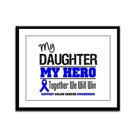 ColonCancerHero Daughter Framed Panel Print
