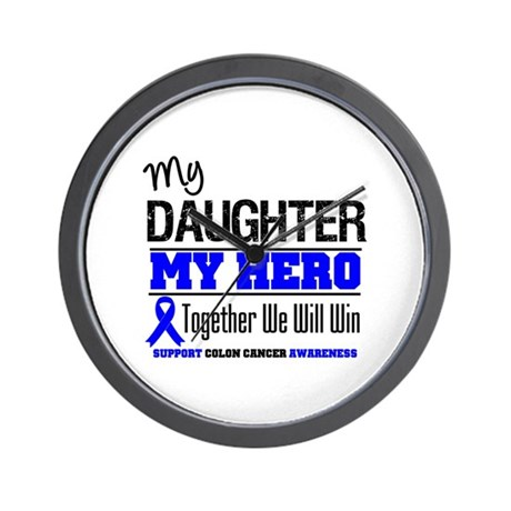 ColonCancerHero Daughter Wall Clock