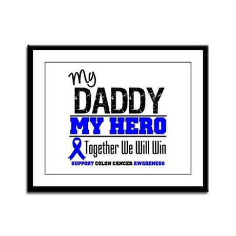 ColonCancerHero Daddy Framed Panel Print