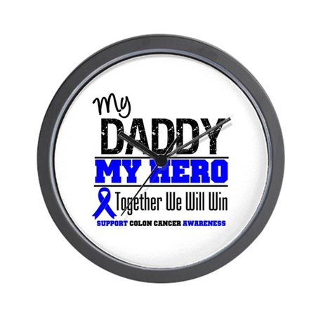 ColonCancerHero Daddy Wall Clock