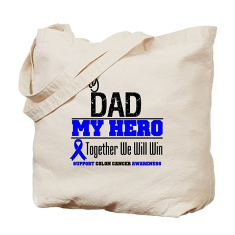 ColonCancerHero Dad Tote Bag