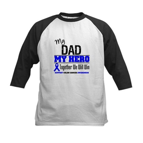 ColonCancerHero Dad Kids Baseball Jersey