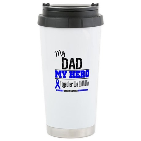 ColonCancerHero Dad Ceramic Travel Mug
