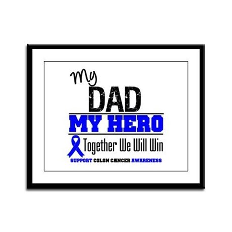 ColonCancerHero Dad Framed Panel Print