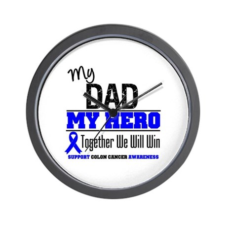 ColonCancerHero Dad Wall Clock