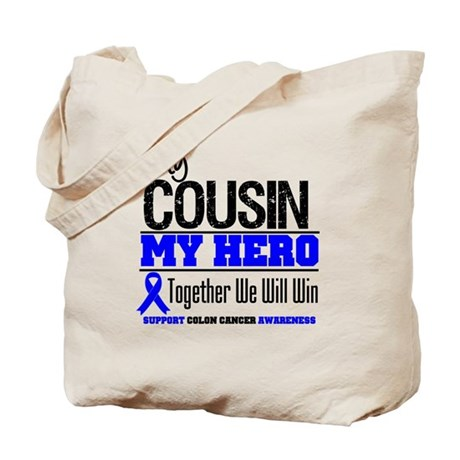 ColonCancerHero Cousin Tote Bag